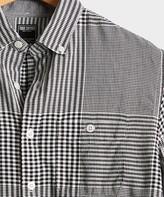 Todd Snyder Glen Plaid Flannel Shirt in Black