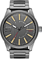 Diesel Men's Rasp Gunmetal Stainless Steel Bracelet Watch 46x53mm DZ1762