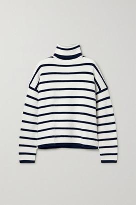 La Ligne Striped Wool Turtleneck Sweater - Cream