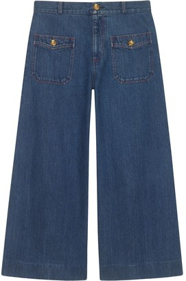 Gucci Denim wide leg pant