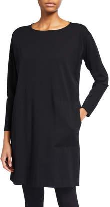Eileen Fisher Petite Stretch Jersey Long-Sleeve Shift Dress