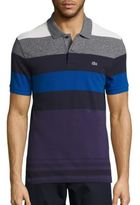 Lacoste Short Sleeve Bold Stripe Pique Polo