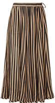 Zimmermann Jaya Striped Cotton-gauze Midi Skirt - Sand