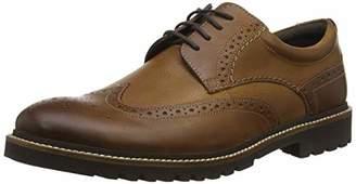 Rockport Men's Marshall Wingtip Shoe Derbys, Brown (Fawn), (40.5 EU)