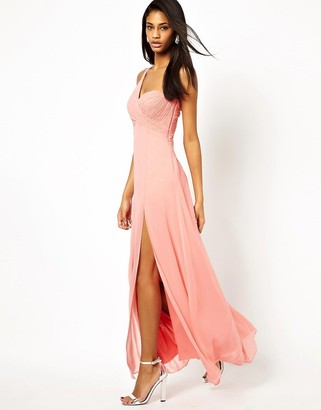 Lipsy VIP One Shoulder Maxi Dress with Embellishment