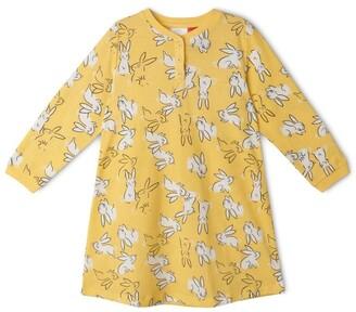 Milkshake Hopping Bunny Nightie Yellow