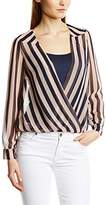 Fever Women Santiago Wrap Striped Shirt