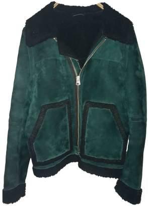 H&M Studio Studio Green Suede Jacket for Women