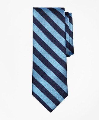 Brooks Brothers Limited Edition Archival Collection BB#4 Striped Rep with Crest Silk Tie