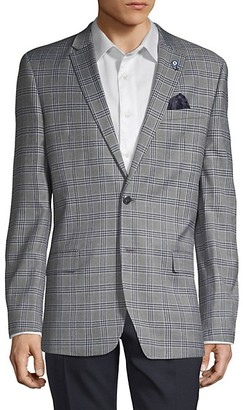 Ben Sherman Plaid Notched Sportcoat