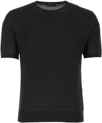 Prada Knitted Slim Fit T-Shirt