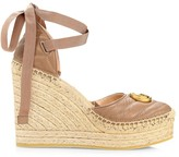 Gucci Palmyra Leather Wedges
