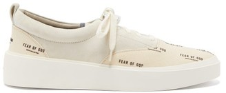 Fear Of God 101 Raised-sole Suede And Canvas Trainers - Beige Multi