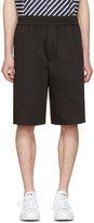 Neil Barrett Black Washed Slouch Shorts