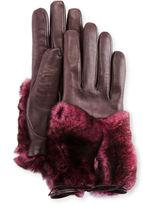 Imoni Leather & Rabbit Fur Gloves