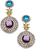 Mawi Meghna Designs Purple and Blue Double Drop Earrings