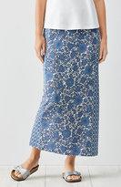 J. Jill Mixed-Print Knit Maxi Skirt