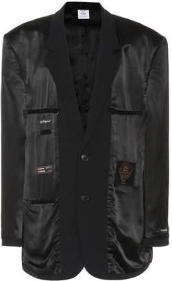 Vetements Wool-blend blazer