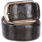 Brioni Glazed Crocodile Belt