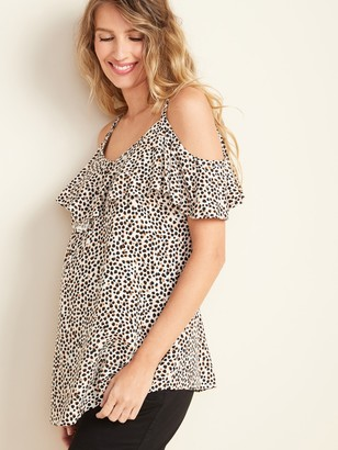 Old Navy Maternity Ruffled Cold-Shoulder Blouse