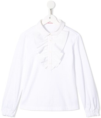 Familiar Ruffle Trim Shirt