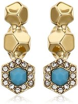 Rebecca Minkoff Pave Gem Climber Earrings