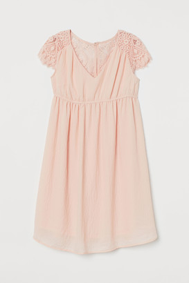 H&M MAMA Lace-yoke Dress