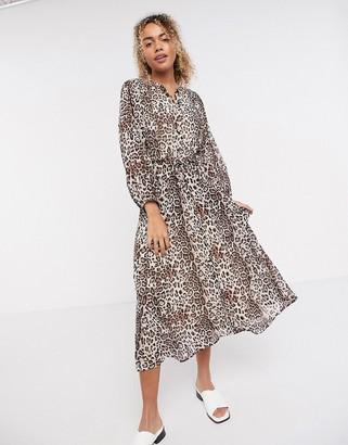 InWear Florizza midi dress in leopard print