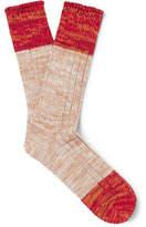 Anonymous Ism Mélange Cotton-Blend Socks