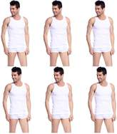 Godsen Men's 6 Pack A-Shirt Sleeveles Undershirts Tank Top XL