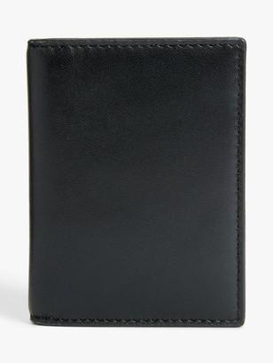 John Lewis & Partners Leather Travel Card Holder, Black