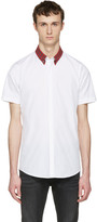 DSQUARED2 White Check Collar Shirt