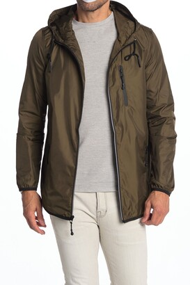 Micros Solid Zip Front Hooded Jacket
