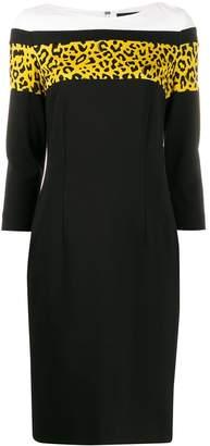 Class Roberto Cavalli colour-block midi dress