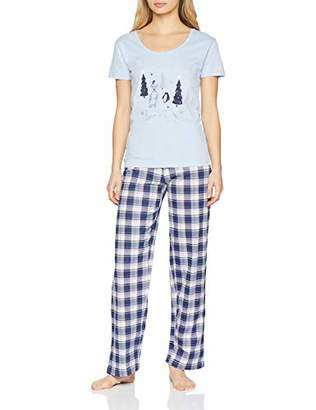 Boux Avenue Women's Winter Scene Bundle Pyjama Sets, (Blue Mix UX), 8