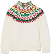 Loewe Fair Isle Cotton-blend Sweater - White