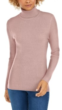 Style&Co. Style & Co Petite Ribbed Turtleneck Sweater, Created for Macy's