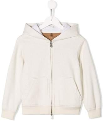 Brunello Cucinelli Kids zip front hoodie