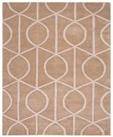 Jaipur City Area Rug - Incense/Pebble Geometric Ovals, 8' x 11'