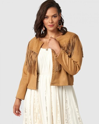 The Poetic Gypsy - Women's Brown Jackets - Fringe Festival Jacket - Size One Size, 12 at The Iconic