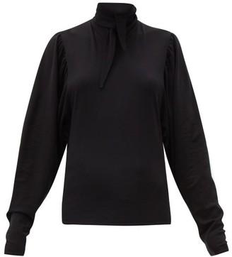 Lemaire Neck-tie Cotton Top - Black