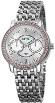 August Steiner Women's Quartz Stainless Steel Casual Watch, Color:Silver-Toned (Model: AS8228SS)