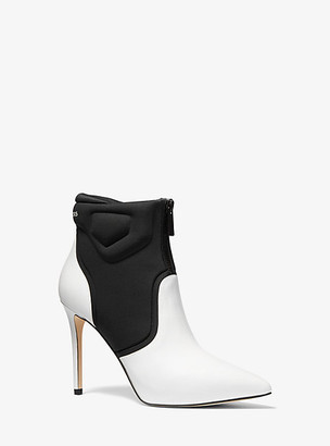 Michael Kors Uma Leather and Scuba Ankle Boot