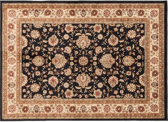 Khl Rugs KHL Rugs Traditional Black Floral Rug