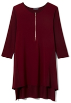 Vince Camuto Zip-up Mixed-material Top