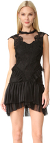 Jonathan Simkhai Delicate Layered Ruffle Contour Dress