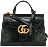 Gucci GG Marmont top handle bag - women - Crocodile Leather - One Size