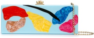Edie Parker abstract print clutch