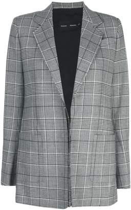 Proenza Schouler check notched lapel blazer