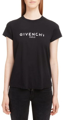 Givenchy Distressed Logo Graphic Tee